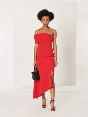 Oscar de la Renta One-Shoulder Cady Pesante Cocktail Dress