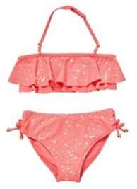 F&F Foil Splatter Frill Bikini Set 5-6 years