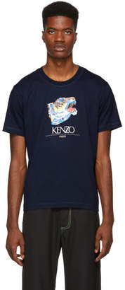 Kenzo Navy Tiger Head T-Shirt