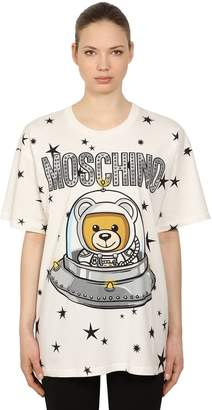 Moschino Oversized Logo Printed Jersey T-Shirt