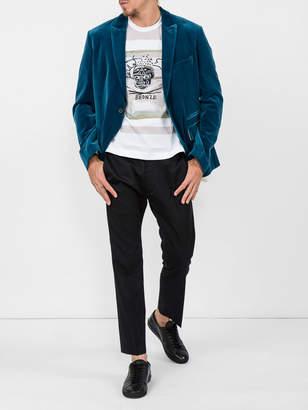 Comme des Garcons Shirt x jean-michel basquiat bronze printed tee-shirt