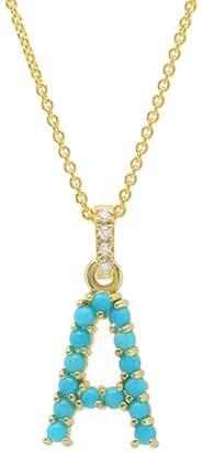 Jennifer Meyer Turquoise Cabochon Initial Necklace