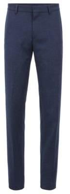 BOSS Hugo Slim-fit pants in washable virgin-wool flannel 32R Dark Blue