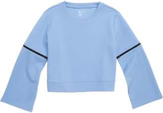 Zella Zip Bell Sleeve Pullover