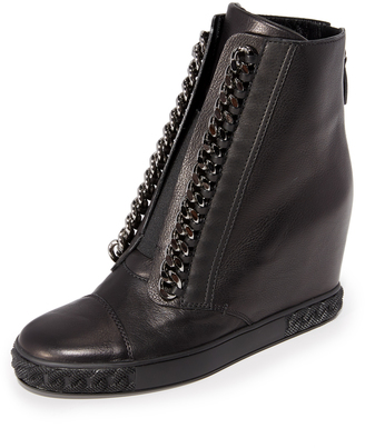 Casadei Chain Sneaker Wedges $820 thestylecure.com