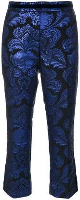 Christian Pellizzari jacquard cropped trousers