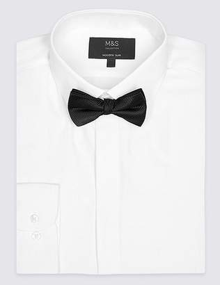 Marks and Spencer Cotton Blend Modern Slim Fit Dinner Shirt