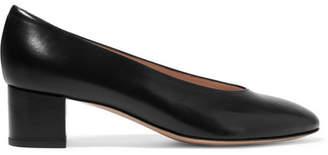 Mansur Gavriel - Ballerina Leather Pumps - Black $475 thestylecure.com
