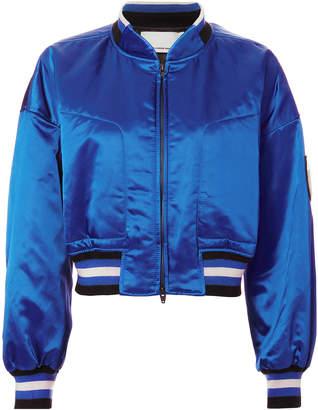 Alexander Wang Lapis Blue Bomber Jacket