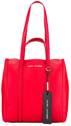 Marc Jacobs The Tag Leather Tote Bag, Cranberry