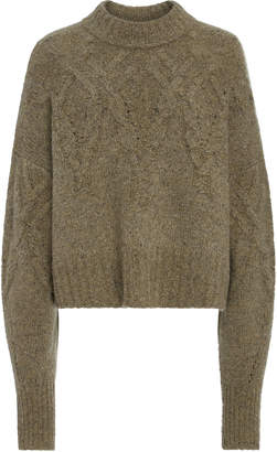Isabel Marant Hervey Cable-Knit Cashmere Sweater Size: 36