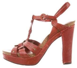 Frye Platform Leather Sandals