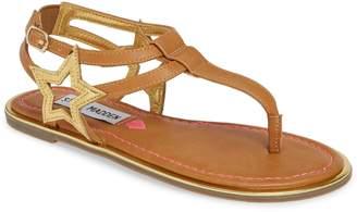 Steve Madden JSTRDUST Metallic T-Strap Sandal