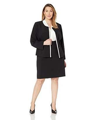 a3d52b14b28 Le Suit Women s Size Plus 4 Button Jewel Neck Skirt Suit