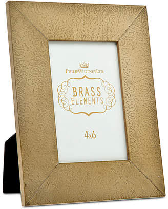 """Philip Whitney 4"""" x 6"""" Embossed Metal Picture Frame"""