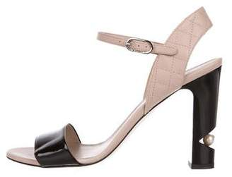 Chanel Leather Ankle Strap Sandals