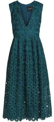 Nicholas Pleated Guipure Lace Midi Dress