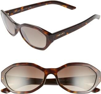 5c148c3f863f Prada 56mm Gradient Geometric Sunglasses