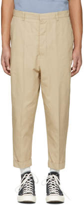Ami Alexandre Mattiussi SSENSE Exclusive Beige Oversized Carrot Trousers