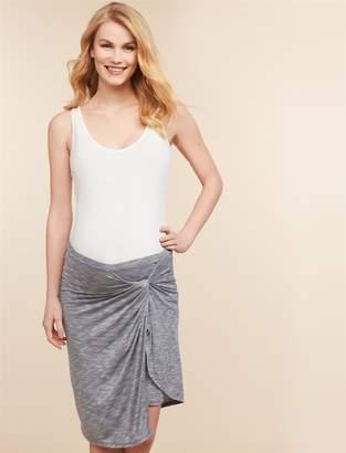 Jessica Simpson Motherhood Maternity Under Belly Knot Front Maternity Skirt