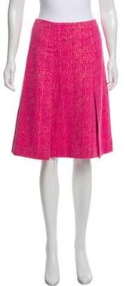 Chanel Textured Knee-Length Skirt Pink Textured Knee-Length Skirt
