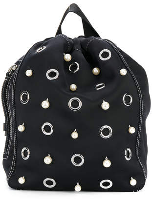 3.1 Phillip Lim faux pearl embellished backpack