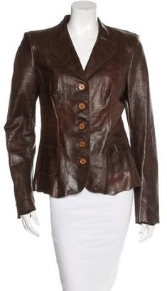 Elie Tahari Leather Button-Up Blazer $195 thestylecure.com