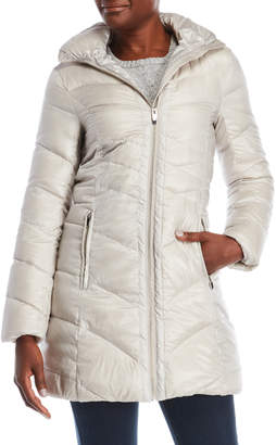 Via Spiga Hooded Packable Down Jacket