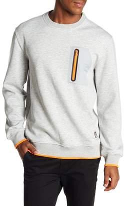 Lindbergh Zip Pocket Crew Neck Sweater