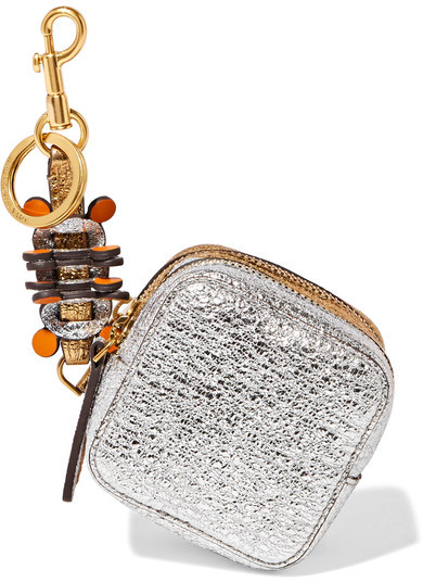 Anya Hindmarch Anya Hindmarch - Circulus Metallic Textured-leather Coin Purse - Gold