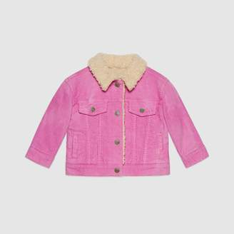 Gucci Baby embroidered corduroy jacket