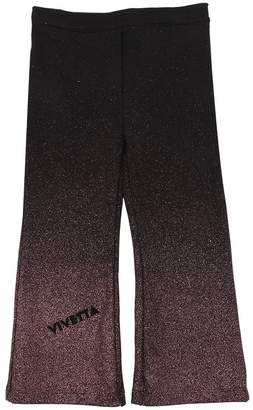 Glittered Flared Cotton Sweatpants