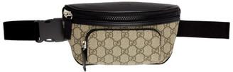 Gucci Beige and Black GG Supreme Belt Bag