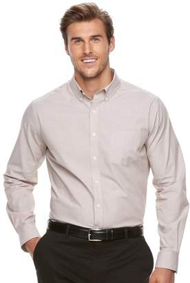 Croft & Barrow Big & Tall Classic-Fit Stretch Woven Button-Down Shirt