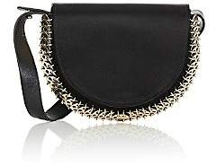 Paco Rabanne Women's 14#02 Half Moon Satin Mini Crossbody - Noir