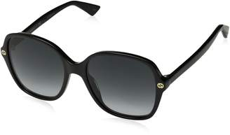 Gucci GG0092S 001 Black GG0092S Square Sunglasses Lens Category 3 Size 55mm