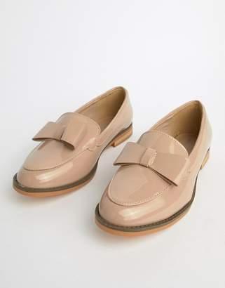 Glamorous Blush Patent Bow Loafer