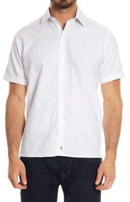 Robert Graham Short-Sleeve Cotton Button-Down Shirt