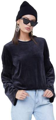 Juicy Couture Velour Smocked Bell Sleeve Top