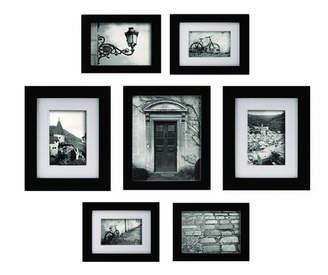 DAY Birger et Mikkelsen Red Barrel Studio Morell Blackstone 7 Piece Gallery Snapshot Picture Frame Set