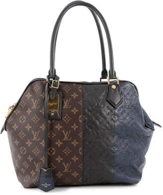 Louis Vuitton Blocks Zipped Tote Monogram Marine Brown Black