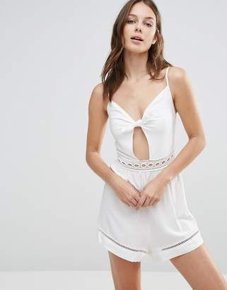 Seafolly Tie Front Beach Playsuit