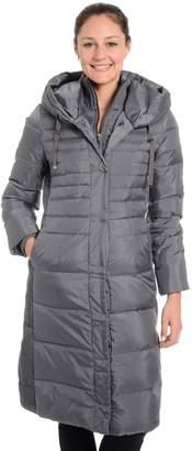 Fleet Street Women's Hooded Long Down Puffer Coat