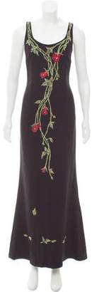 Nicole Miller Embroidered Maxi Dress