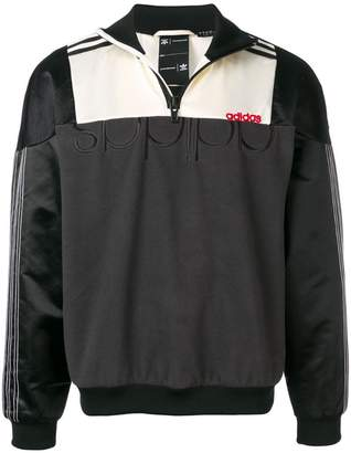 adidas By Alexander Wang colour-block zip sweatshirt