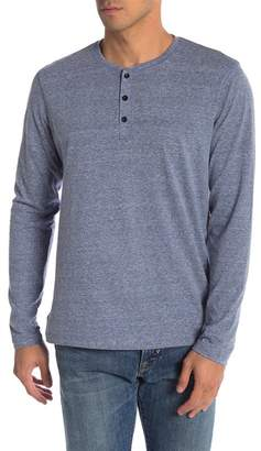 Public Opinion Streaky Henley Long Sleeve Shirt