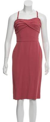 Burberry Sleeveless Cocktail Dress Coral Sleeveless Cocktail Dress