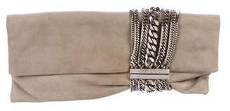 Jimmy Choo Suede Chandra Clutch
