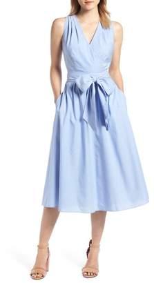 1901 Chambray Wrap Dress (Regular & Petite)