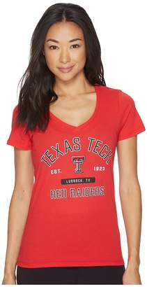 Champion College Texas Tech Red Raiders University V-Neck Tee Women's T Shirt